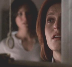 """I saw him,"" Scully whispered, her voice full of wonder..."