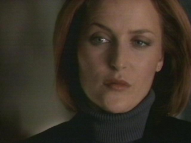 Scully stood there for a few more seconds, reeling with emotion.