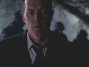 'Agent Scully. He's over there,' he said, pointing over to the body...