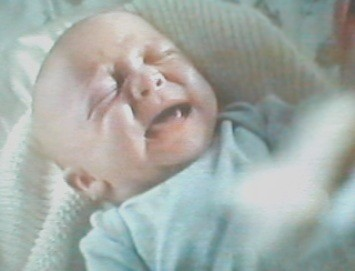 '...owhayaaa... owhayaaa... owhayaaa...' little William continued to cry and squirm...