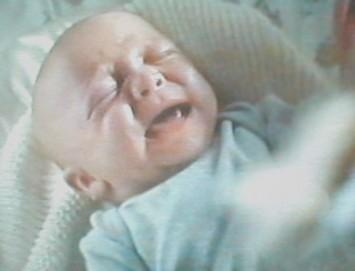'...owhayaaa... owhayaaa... owhayaaa...' little William continued to cry and squirm...